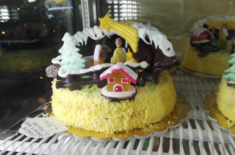 Kalėdų tortas su prakartėle