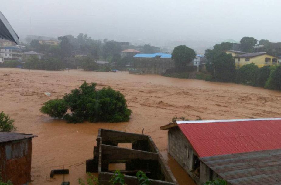 Potvynis Siera Leonėje