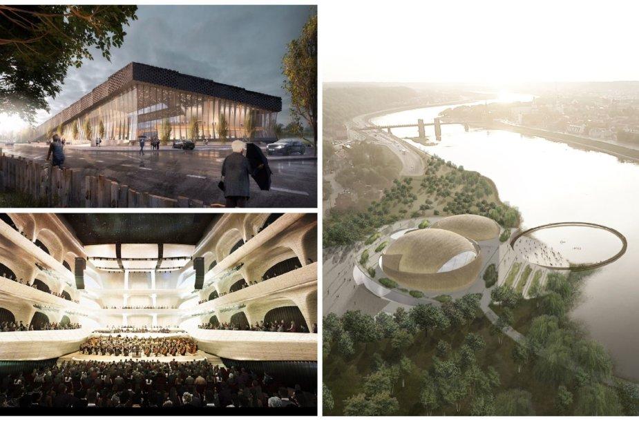 M.K.Čiurlionio koncertų centro konkursui pateikti darbai