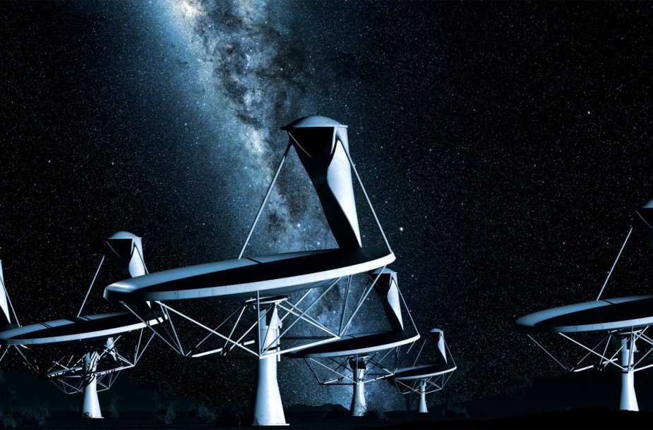 Radijo teleskopai menininko akimis