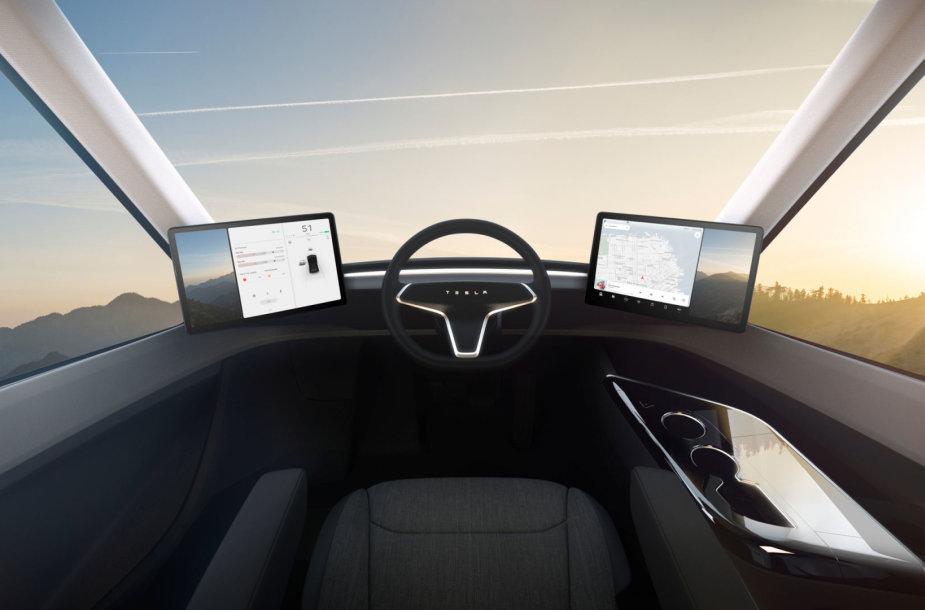 """Los Andžele pristatytas naujasis """"Tesla"""" elektrinis vilkikas – """"Tesla Semi"""""""