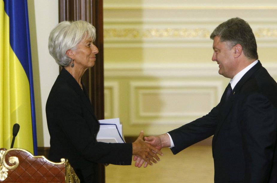 Christine Lagarde ir Petro Porošenka