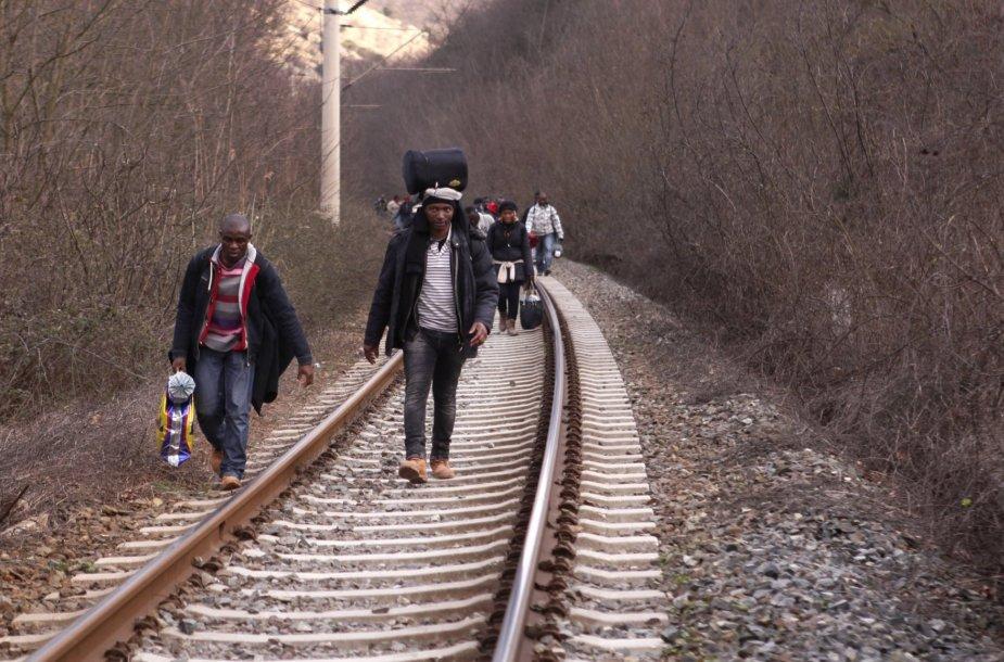 Migrantai Makedonijoje.
