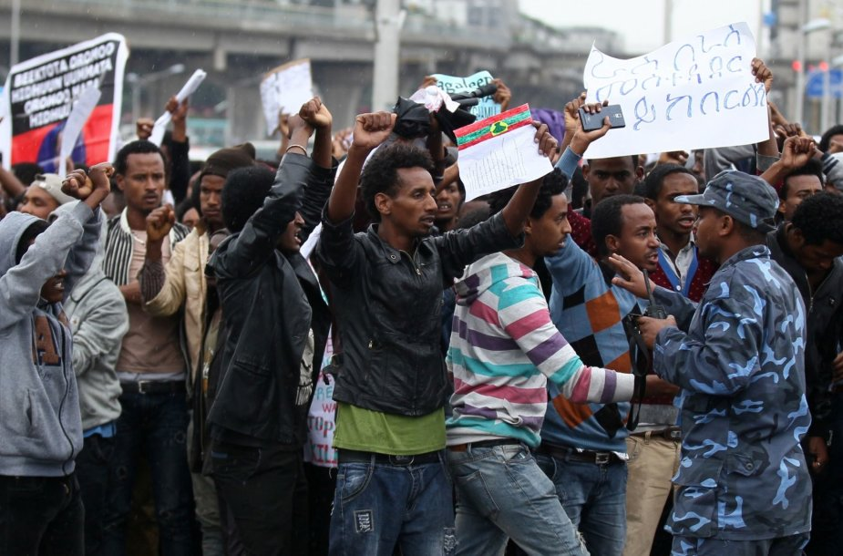 Protestai Etiopijoje