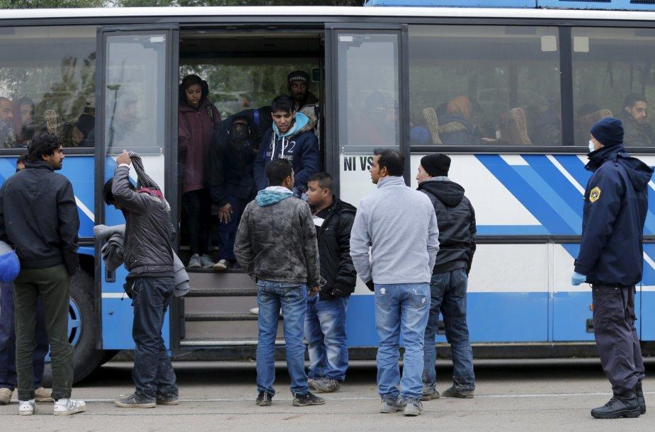 Migrantai Slovėnijoje
