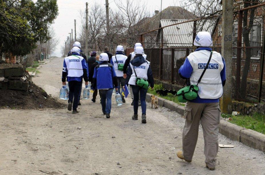 ESBO atstovai Rytų Ukrainoje.