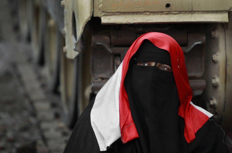 Nikabą dėvinčios musulmonės