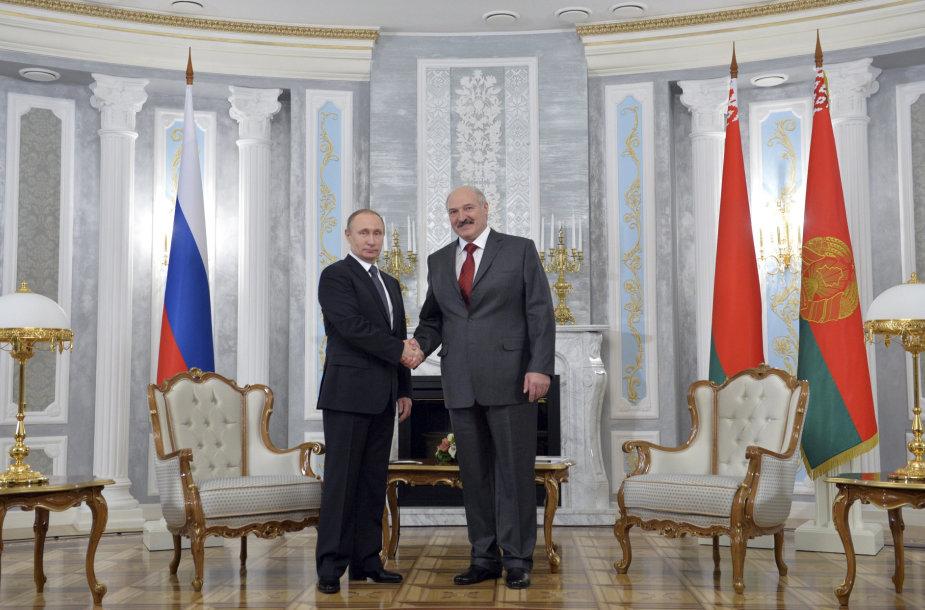 Rusijos ir Baltarusijos vadovai Minske