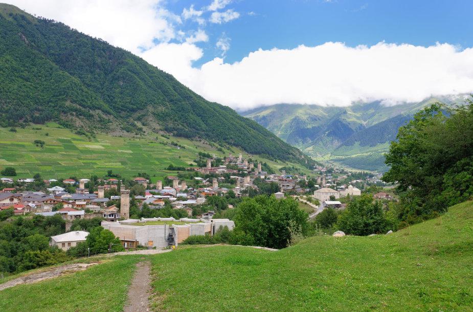 Ušguli kaimas, Svanetijoje, Gruzijoje