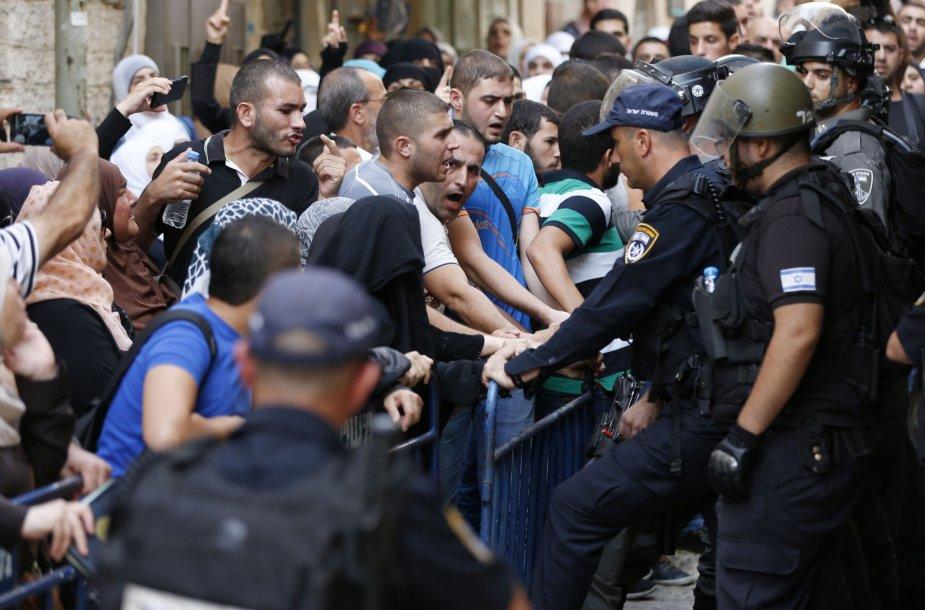Musulmonų susirėmimai su Izraelio saugumo pajėgomis Jeruzalėje