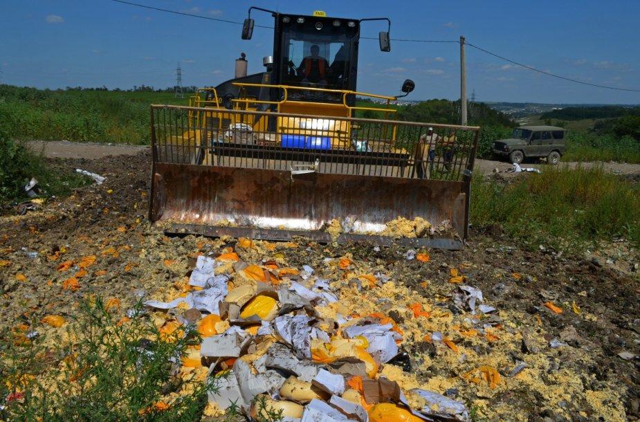 Rusijoje naikinami iš Vakarų šalių įvežti maisto produktai
