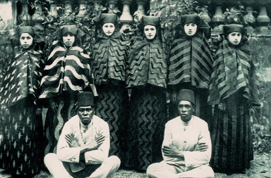 Otomanų haremas su savo eunuchais