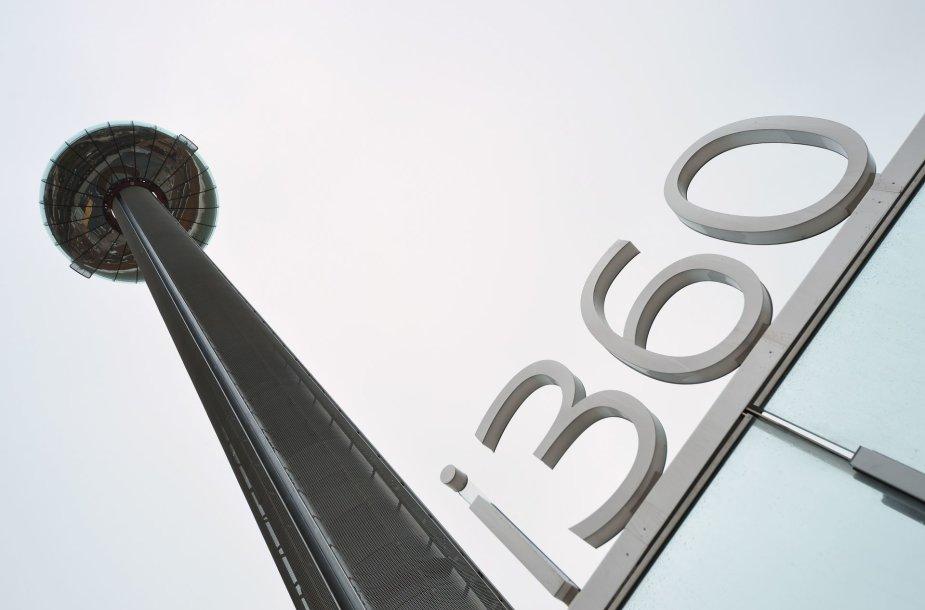 """""""British Airways"""" statytas 161 metrų aukščio apžvalgos bokštas """"i360"""""""
