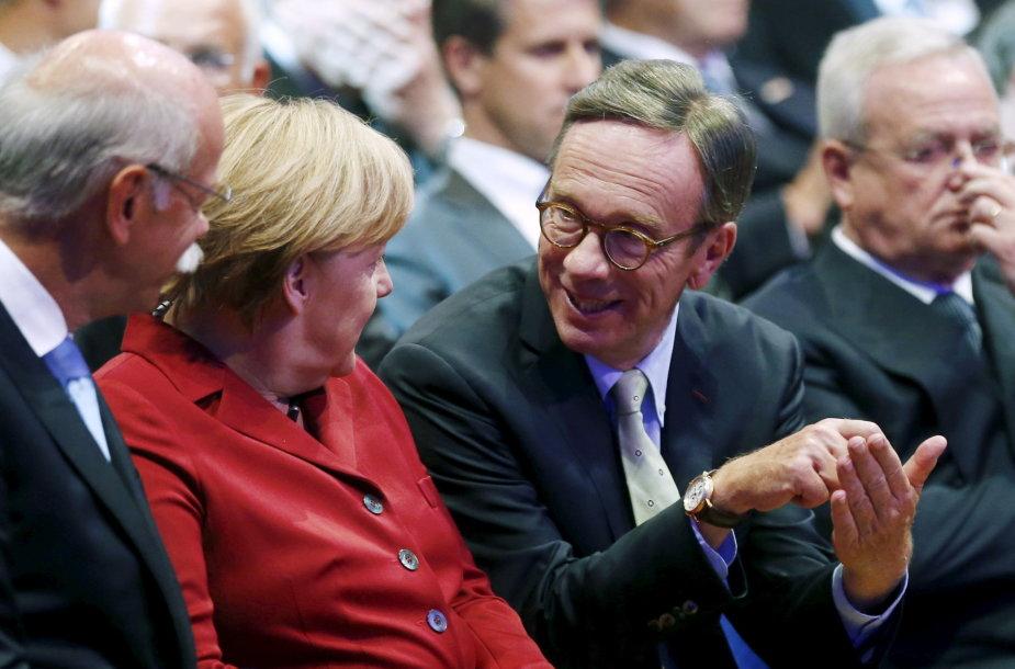 Angela Merkel ir Matthias Wissmannas