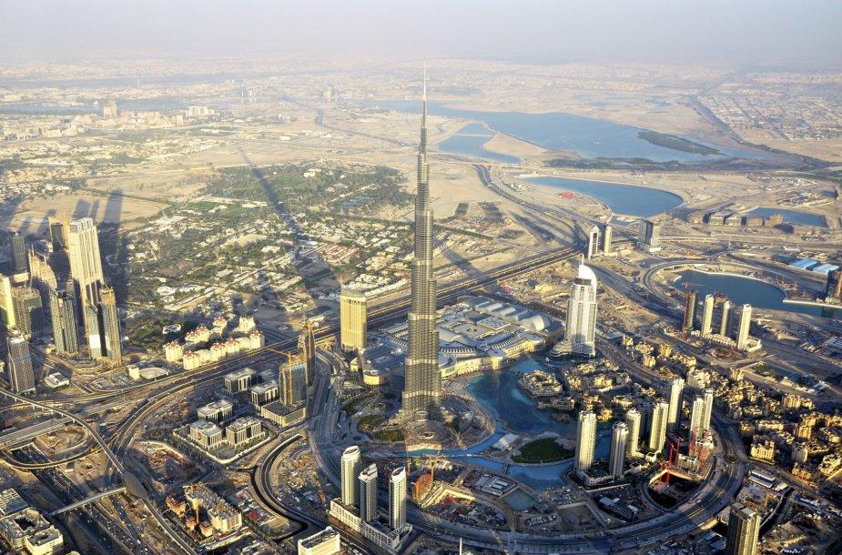Dubajaus nuotraukos iš oro