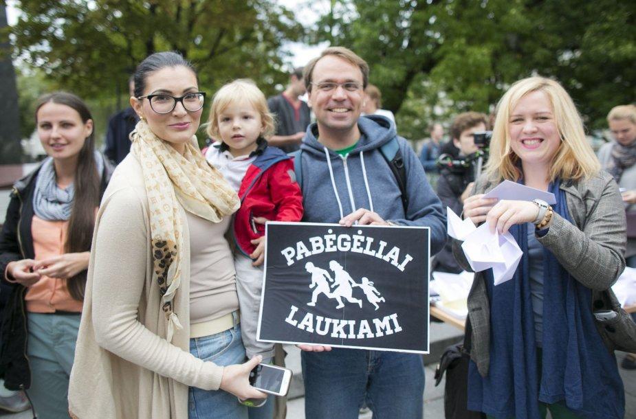 Vilniuje surengtas paramos pabėgėliams renginys