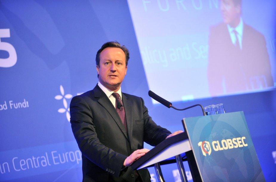 Didžiosios Britanijis Davidas Cameronas Bratislavoje