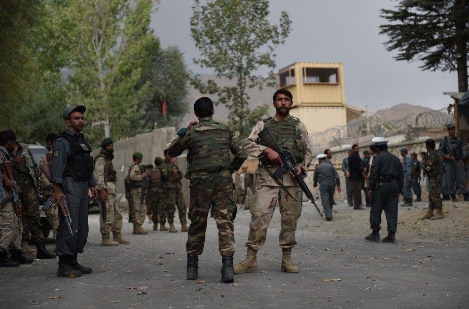 Kariai saugo sprogimo vietą Afganistane