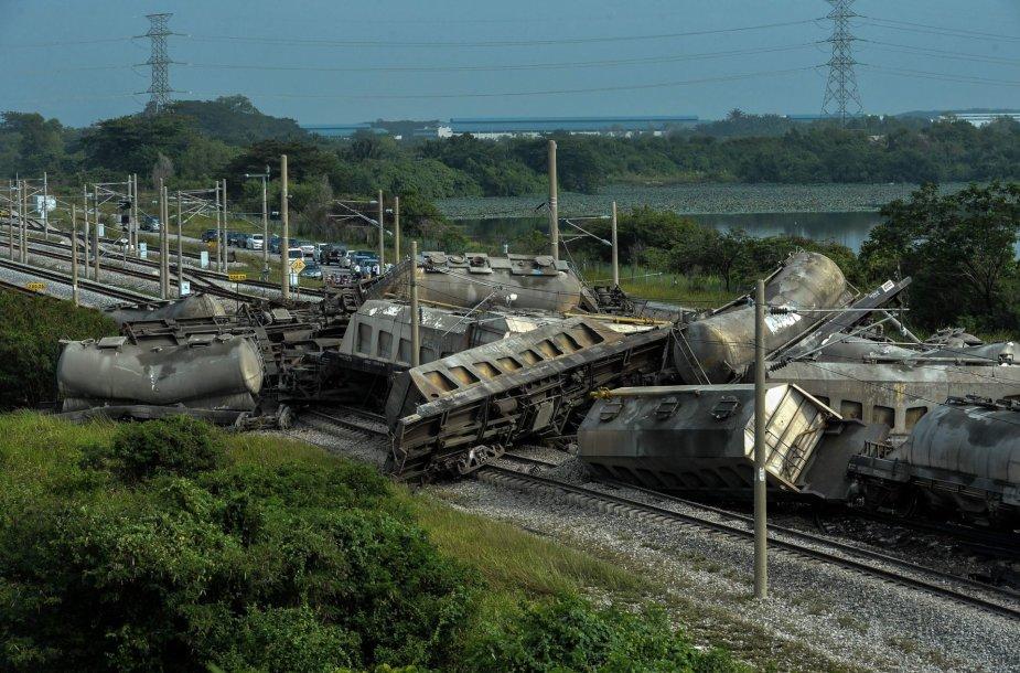 Traukinio avarija Malaizijoje