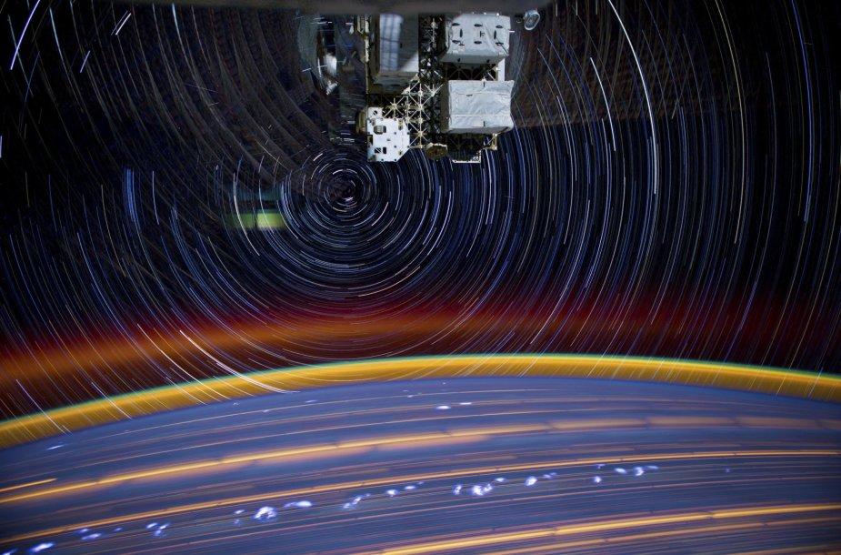 Žemė matoma iš tarptautinės kosminės stoties