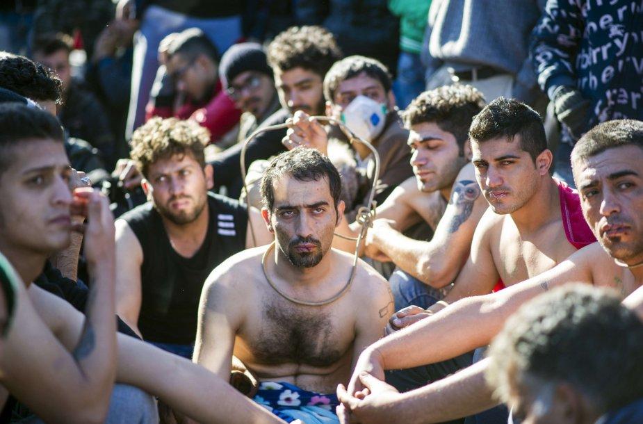 Makedonijoje sulaikyti migrantai, kurie nėra karo pabėgėliai
