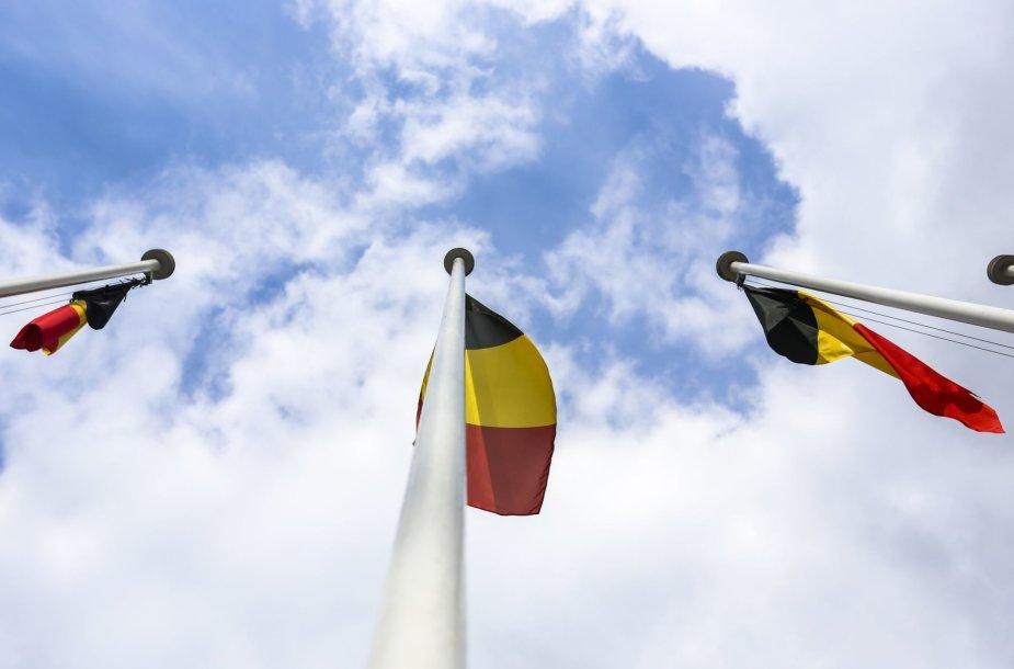 Prie Vyriausybės iškeltos devynios Belgijos vėliavos
