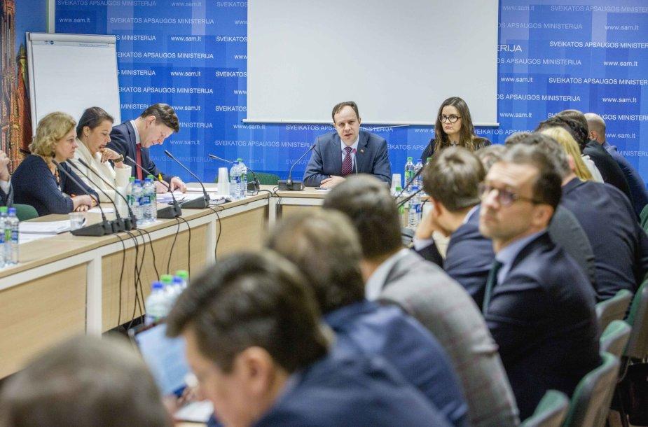 Sveikatos ministro Aurelijaus Verygos susitikimas su verslininkais dėl specializuotų alkoholio parduotuvių