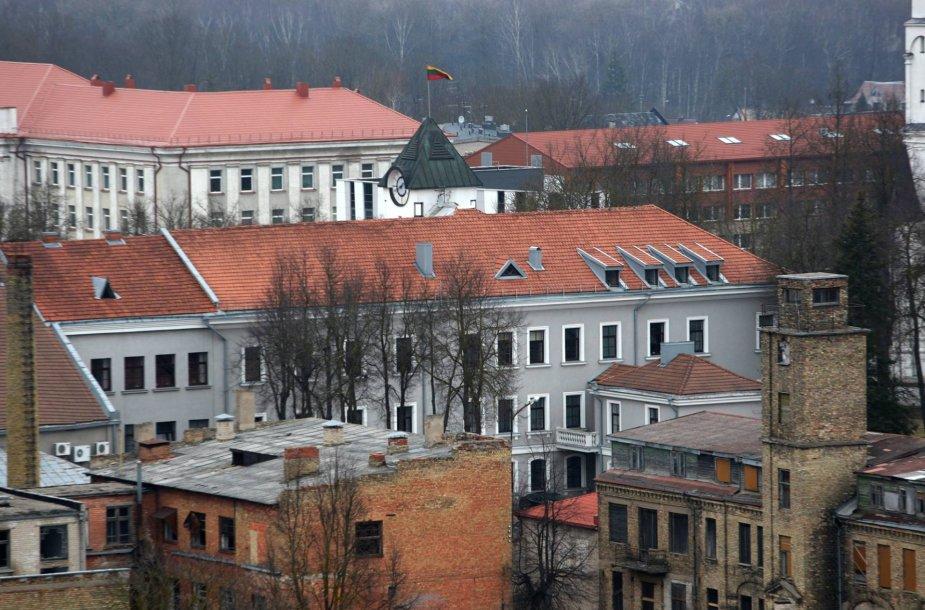 """Šiaulių panorama nuo """"Šiaulių"""" viešbučio stogo"""