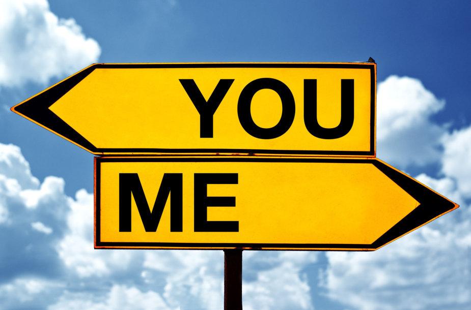 Santykiai: mes einame ne viena kryptimi...