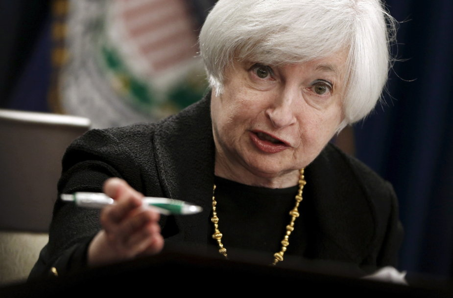 JAV Federalinio iždo banko vadovė Janet Yellen