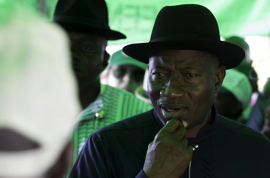 Nigerijos prezidentas Goodluckas Jonathanas.
