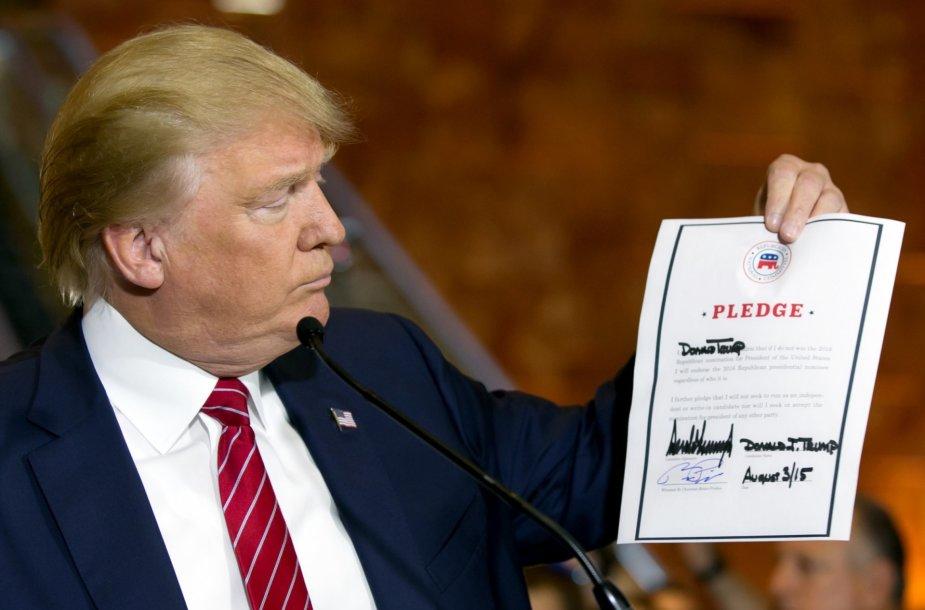 Donaldo Trumpo priesaika