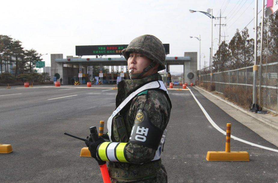 Pietų Korėjos karys pasienyje