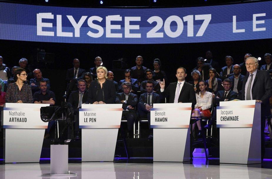 Prancūzijos prezidento rinkimų kandidatų debatai