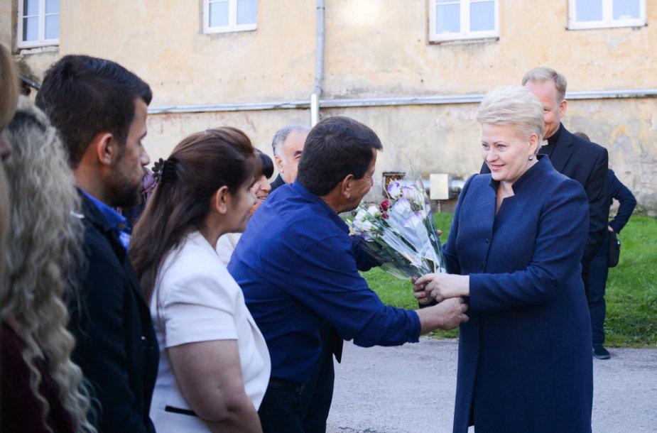 Prezidentė susitinka su pabėgėlių iš Irako šeima