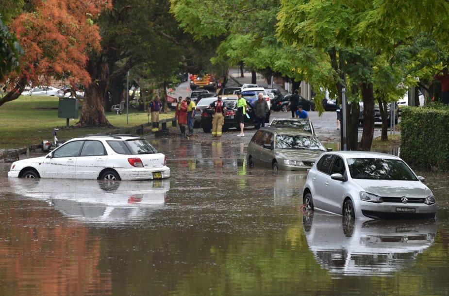 Audros padariniai Australijoje