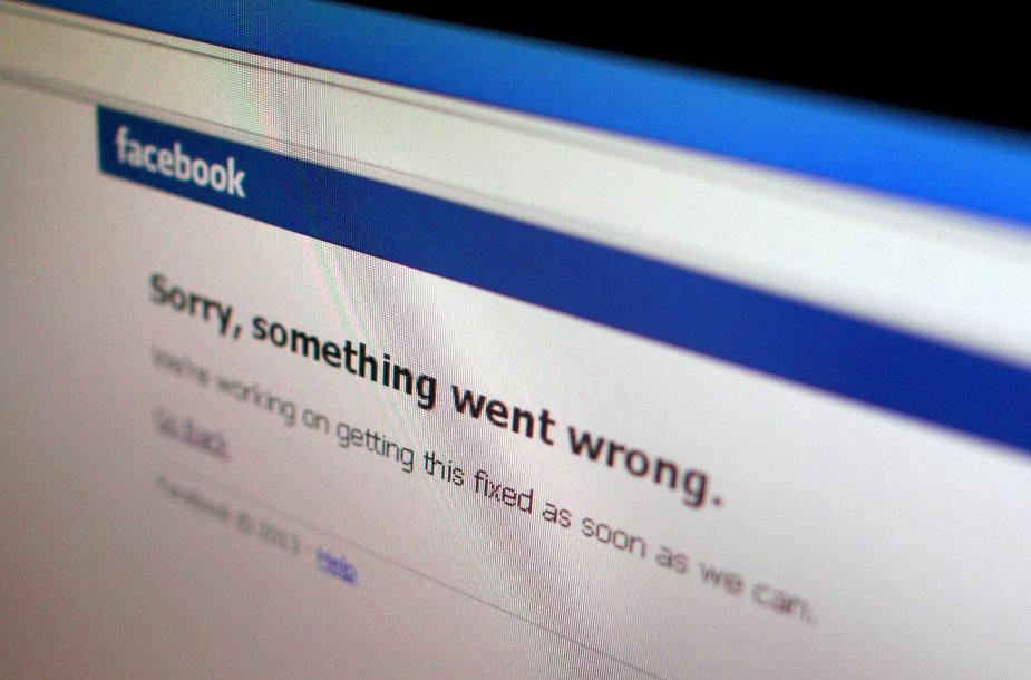 """Neatsidaranti """"Facebook"""" paskyra"""