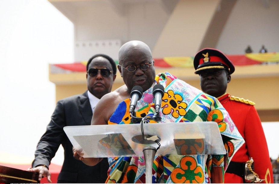 Nana Akufo-Addo inauguracinės kalbos akimirka