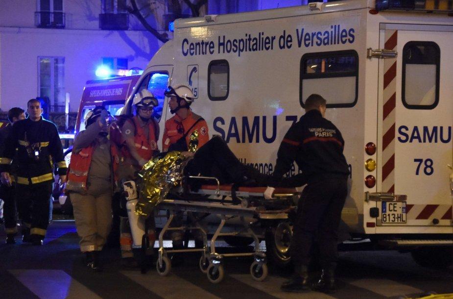Per teroro aktą sužeistas žmogus