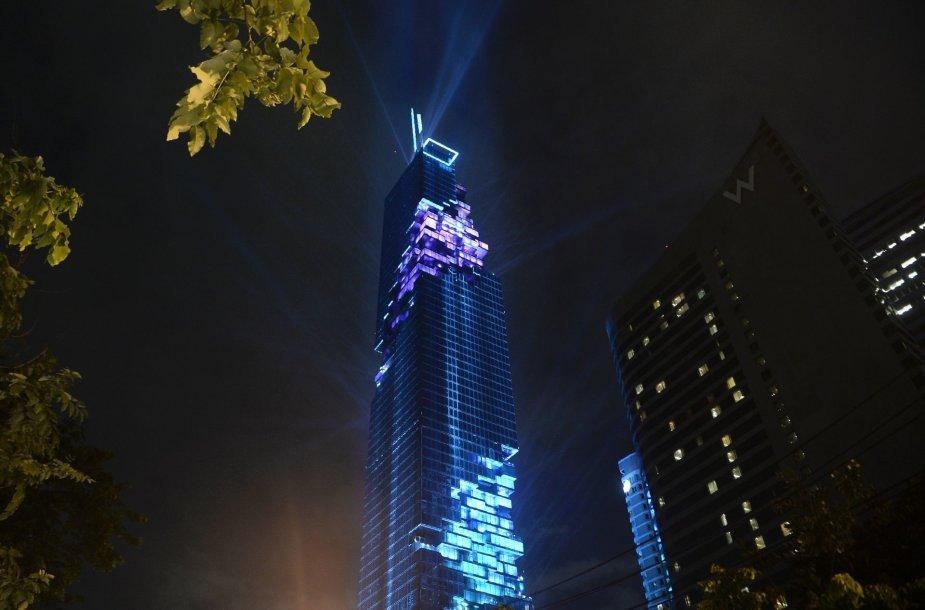 Įspūdingas aukščiausias dangoraižis Tailande