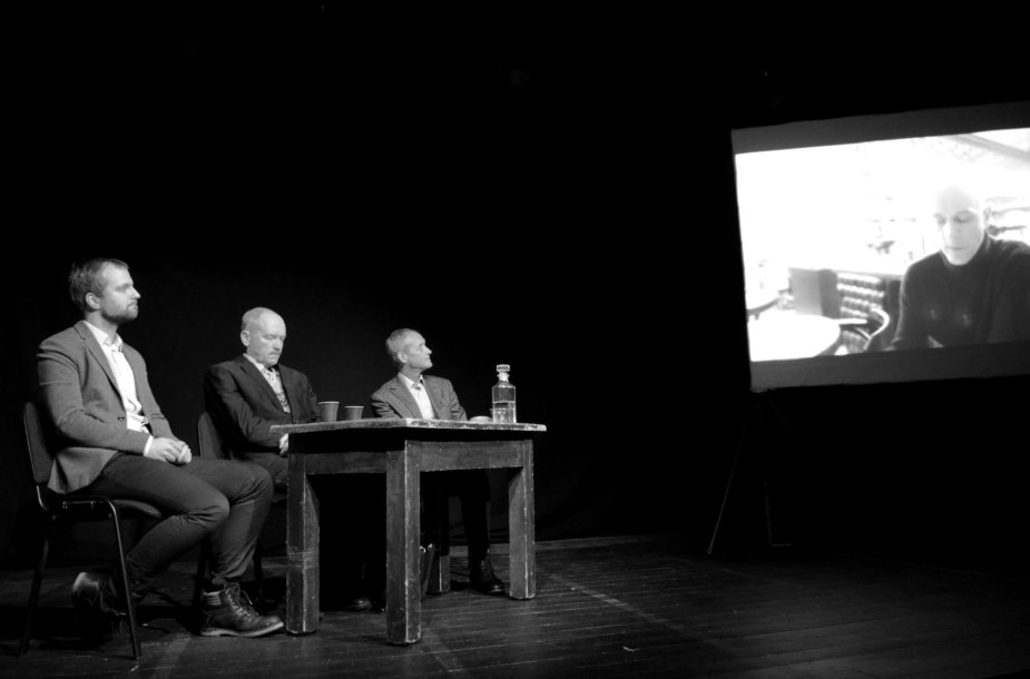 Tomo Vaisetos romano pristatymas Jaunimo teatre