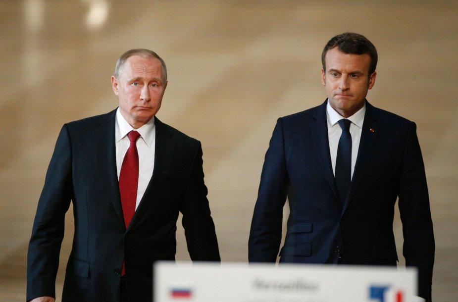 E.Macrono ir V.Putino susitikimas