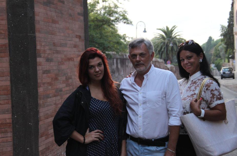 Paulius ir Jurga Jurkevičiai su savo dukra Barbora