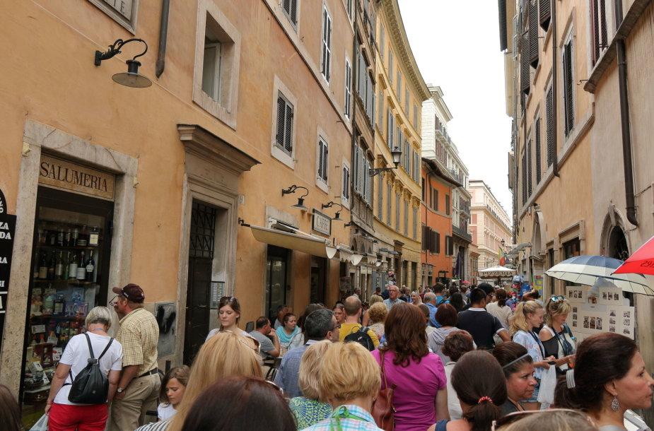 Turistai Romoje