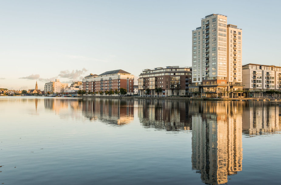 """Naujas rajonas Dubline, žinomas kaip """"Silicon Docks"""""""