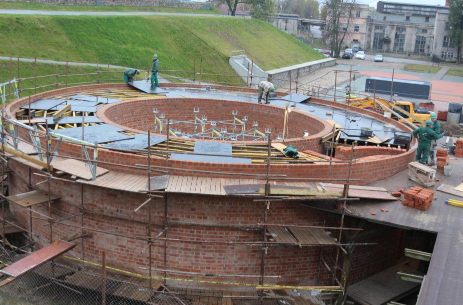 Klaipėdos piliavietėje verda statybų darbai
