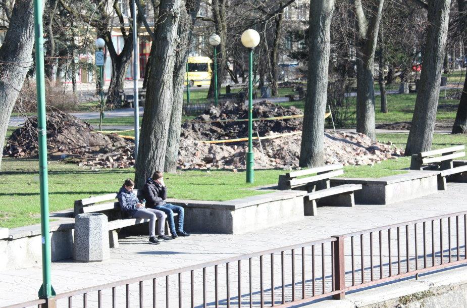 Apie du mėnesius Danės skvere, Klaipėdos senamiestyje, dirbs archeologai.