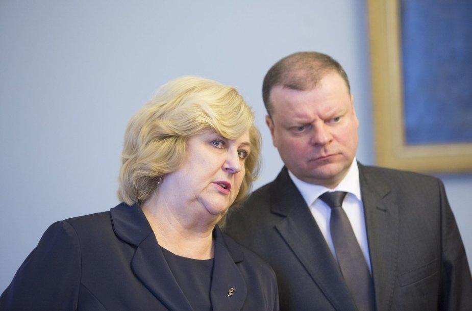 Rimantė Šalaševičiūtė ir Saulius Skvernelis