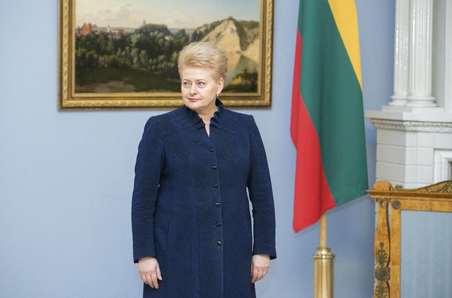 Prezidentė Dalia Grybauskaitė Prezidentūroje priėmė generalinio prokuroro pavaduotojos Margaritos Šniutytės-Daugėlienės priesaiką