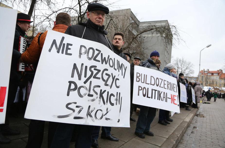 Lenkų piketas Vilniuje